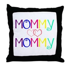 Cute Lesbian mom Throw Pillow