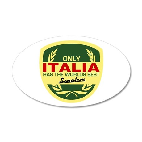 Italia Scooter 20x12 Oval Wall Decal