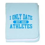 Only Date Athletes baby blanket