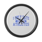 Only Date Athletes Large Wall Clock