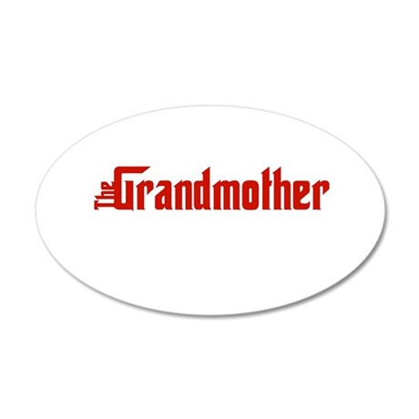 grandmother-w.png 35x21 Oval Wall Decal