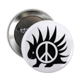 Porcupine Peace Button