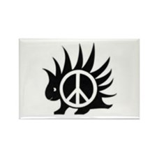 Porcupine Peace Rectangle Magnet (10 pack)