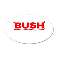 bush-dev-wht.png 35x21 Oval Wall Decal