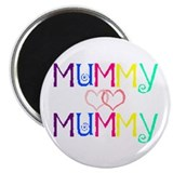 "Cute Two mums 2.25"" Magnet (10 pack)"
