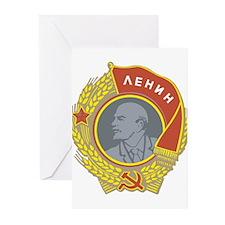 Lenin.png Greeting Cards (Pk of 20)