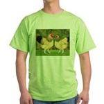 Wyandotte Rooster and Hen Green T-Shirt