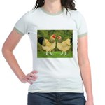 Wyandotte Rooster and Hen Jr. Ringer T-Shirt