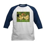 Wyandotte Rooster and Hen Kids Baseball Jersey