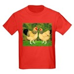 Wyandotte Rooster and Hen Kids Dark T-Shirt