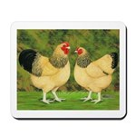 Wyandotte Rooster and Hen Mousepad