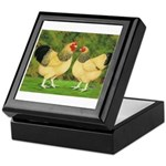 Wyandotte Rooster and Hen Keepsake Box