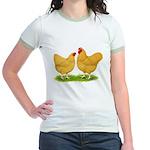 Buff Wyandotte Chickens Jr. Ringer T-Shirt