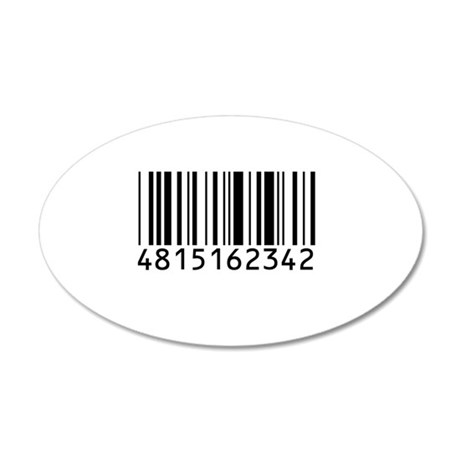 barcode-w.png 20x12 Oval Wall Decal