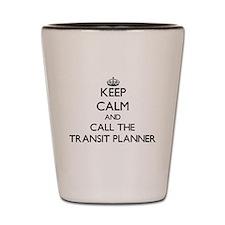 Funny Transportation planning Shot Glass