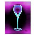 Iceberry Art Deco Wine Glass Poster