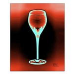 Fire and Ice Art Deco Wine Glass