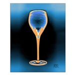 Flame Retardent Art Deco Wine Glass