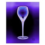 Periwinkle Art Deco Wine Glass