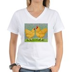 Buff Wyandottes Women's V-Neck T-Shirt