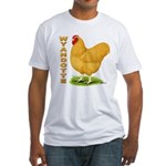 Buff Wyandotte Cock Fitted T-Shirt
