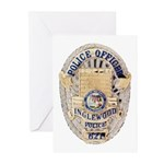 Inglewood Police Officer Greeting Cards (Package o