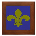 New Orleans Fleur De Lys Art Framed Tile