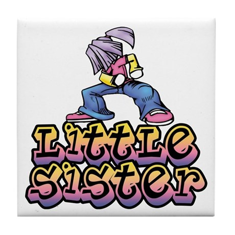 Hip Chic Little Sister Tile Coaster