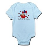 1st 4th of July Baby RED Baby bodysuits