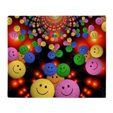 Smiley Faces Jamboree Throw Blanket