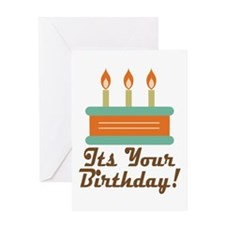 Happy Birthday Cake Greeting Cards