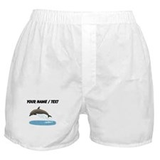 Custom Bottlenose Dolphin Boxer Shorts