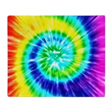 Rainbow Tie Dye Throw Blanket