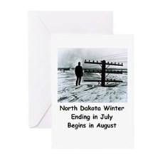 Winter in North Dakota Greeting Cards (Package of