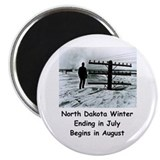 "Winter in North Dakota 2.25"" Magnet (10 pack)"