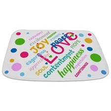 Love, Peace,joy Bathmat