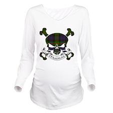 Murray Tartan Skull Long Sleeve Maternity T-Shirt