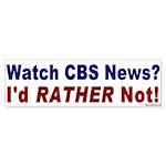 Sticker Bumper Sticker: Watch CBS News?