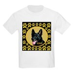 Solid Black GSD Kids Light T-Shirt