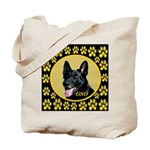 Solid Black GSD Tote Bag