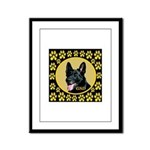 Solid Black GSD Framed Panel Print