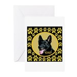 Solid Black GSD Greeting Cards (Pk of 10)