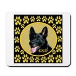 Solid Black GSD Mousepad