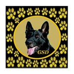 Solid Black GSD Tile Coaster