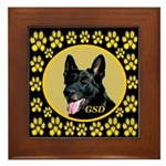 Solid Black GSD Framed Tile