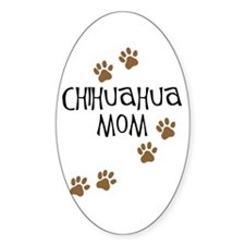 Chihuahua Mom Oval Decal