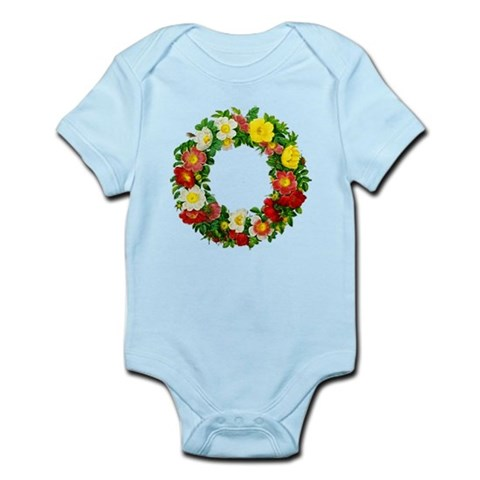 Rose Wreath by Redoute Infant Bodysuit