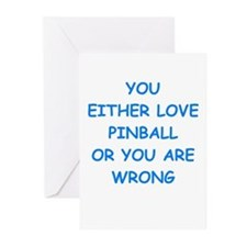 Unique Pin ball Greeting Cards (Pk of 10)