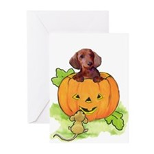 halloween_doxie Greeting Cards