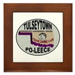 Tulseytown Po-lice Framed Tile